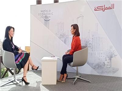 المشاط تعقد سلسلة لقاءات إعلامية في ختام منتدى «الاقتصاد العالمي»