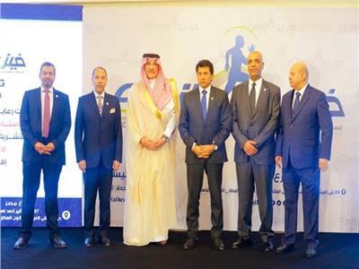 وزير الرياضة والسفير السعودي يكرمان نجوم الرياضة والإعلام