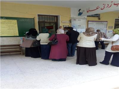 التعديلات الدستورية 2019  توافد الناخبين بالأعلام على لجان الاستفتاء بالبحيرة