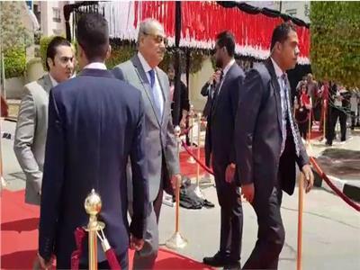 التعديلات الدستورية 2019  فيديو.. النائب العام يصل مقر لجنته للتصويت