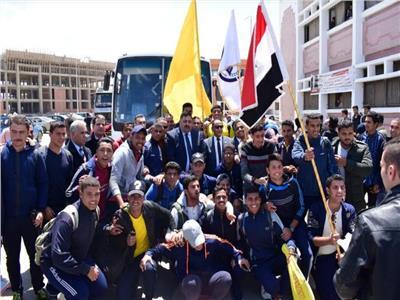 مسيرة حاشدة لطلبة وطالبات جامعة العريش للاستفتاء علىالدستور