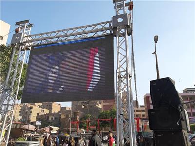 التعديلات الدستورية 2019  شاشة كبيرة و«DJ» بمجمع مدارس في الوراق