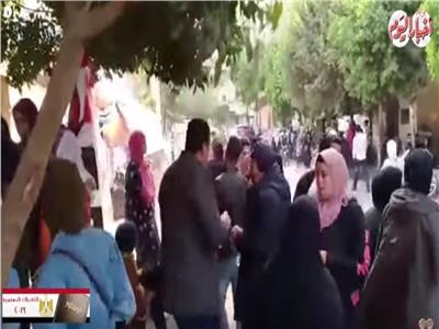 فيديو| الشباب يتصدرون المشهد بلجان حدائق القبة في آخر أيام الاستفتاء