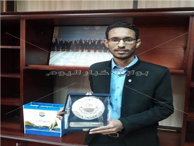 جامعة أسوان تكرم مدرس مساعد حصل على المركز الثاني بمسابقة وكالة ناسا