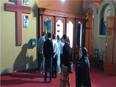 وفد جامعة داغستان الروسية في زيارة لدير العذراء بأسيوط