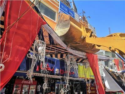 صور| حملات لإزالة الإشغالات بالقاهرة الجديدة