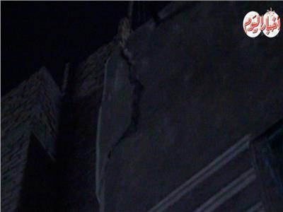 صور| سقوط سقف حجرة عقار دون إصابات ببولاق أبو العلا
