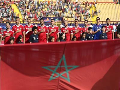 فيديو  جماهير المغرب تردد السلام الوطني قبل مباراة ناميبيا
