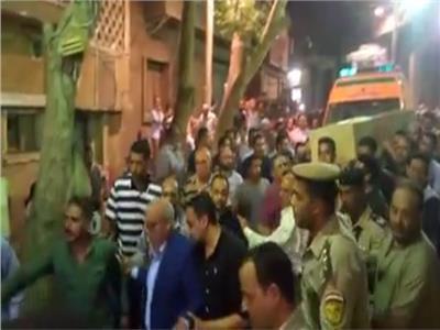 صور| الآلاف يشيعون جثمان الشهيد مصطفى عثمان بالمنيا