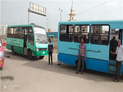 تخصيص 4 أتوبيسات نقل داخلي لخدمة أهالي زهراء الأبعادية بدمنهور