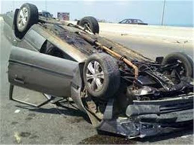 إصابة لواء شرطة سابق و 4 آخرين بانقلاب سيارة بالمنيا