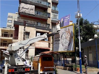 إزالة ٩٣٤ لافتة إعلانية مخالفة بمدن الشرقية