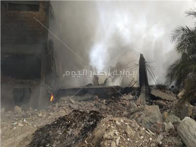 المعاينة الأولية لـ«حريق مصنع أبو حوا»: 5 حالات اختناق وخسائر مادية بالملايين