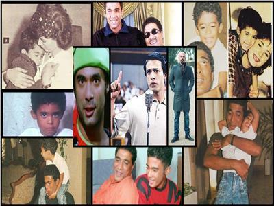 صور نادرة لـ«هيثم أحمد زكي» مع والده ووالدته الفنانة هالة فؤاد