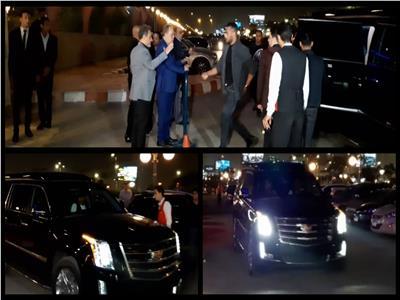فيديو صور.. بـ«دون نمر».. سيارة محمد رمضان الجديدة في عزاء هيثم أحمد زكي