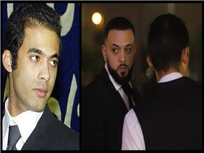 صور| وصول «رامي» شقيق «هيثم أحمد زكي» عزاء أخيه