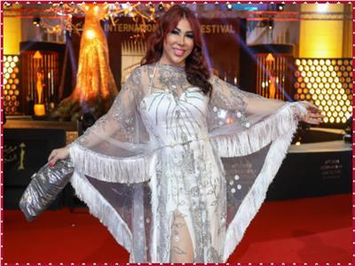 إطلاله مميزة لغادة إبراهيم في افتتاح مهرجان القاهرة السينمائي