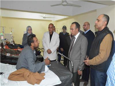 محافظ المنيا يوجه بصيانة محطة مياه وحدة الغسيل الكلوي بمستشفى ملوي