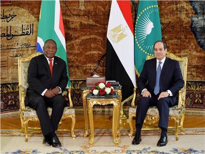 السيسي: سعدت اليوم بلقاء رئيس جمهورية جنوب أفريقيا