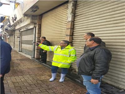 محافظ الاسكندرية يكلف السكرتير العام بتفقد تصريف مياه الأمطار