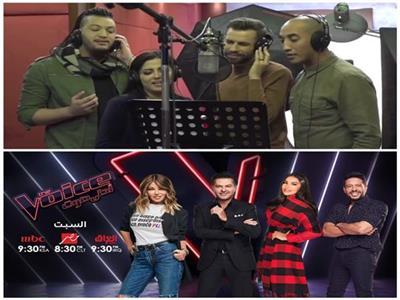 فيديو  كواليس أغنية «حب الأيام» قبل تقديمها بحفل ختام «The Voice»