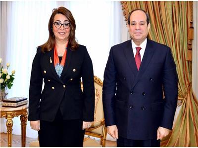 الرئيس السيسي يلتقي غادة والي قبل توليها وكيل السكرتير العام للأمم المتحدة