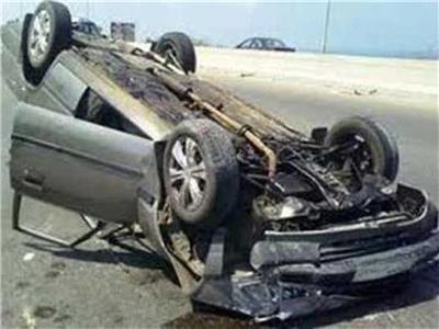 إصابة ضابط إثر انقلاب سيارته بـ«صحراوى البحيرة»