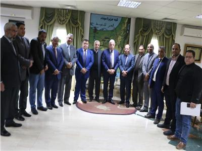 فودة يستعرض مراحل تنفيذ مشروع دورات العمل الإداري بجنوب سيناء