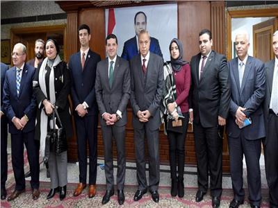 صور  تكريم رؤساء أجهزة القاهرة الجديدة والنوبارية السابقين