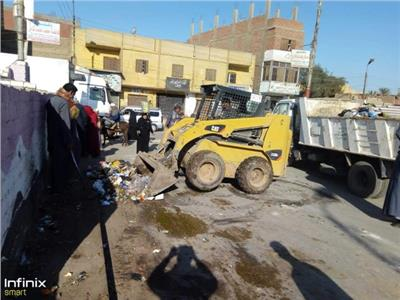 إنشاء 60 وحدة بيوجاز وحملات نظافة بقرى أبو قرقاص في المنيا