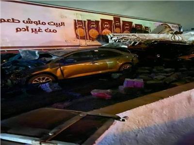 فيديو| ننشر اللقطات الأولى لحادث كمين الحظر بالطريق الدائري الإقليمي
