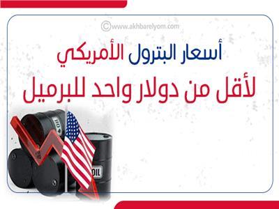 إنفوجراف| سر تراجع أسعار البترول الأمريكي لأقل من دولار واحد للبرميل