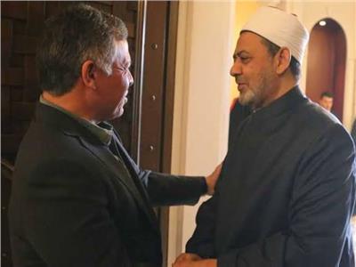 الإمام الأكبر يتبادل التهاني مع ملك الأردن بمناسبة عيد الفطر
