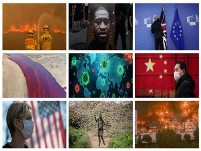 فيديو   كوارث وحرائق ووباء.. أحداث لن ينساها العالم في٢٠٢٠