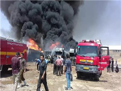 وكالة: انفجار يهز إيران والنيران تشتعل في مخازن الوقود