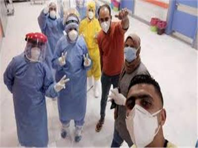 خروج 9 حالات تعافي جديدةمن مستشفى العجمي
