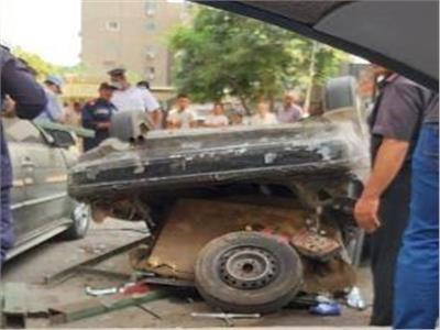 سقوط سيارة ملاكي من أعلى كوبري أكتوبر أثناء اتجاهها لمدينة نصر