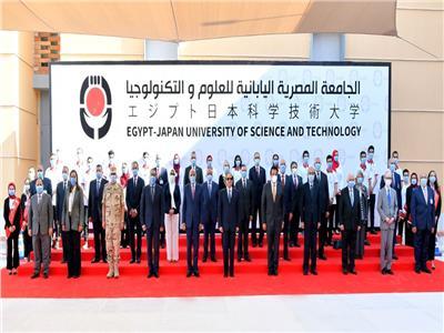 ننشر صور افتتاح الرئيس السيسي الجامعة المصرية اليابانية وعدداً من الجامعات الأهلية