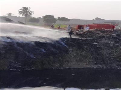 السيطرة على حريق نشب بمخلفات زراعية بطوخ في القليوبية