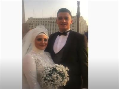 فيديو.. عريس ميدان التحرير «ربنا يحفظ مصر من الأشرار»