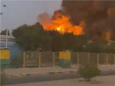 حريق هائل بمصنع للكيماويات بمدينة السادات