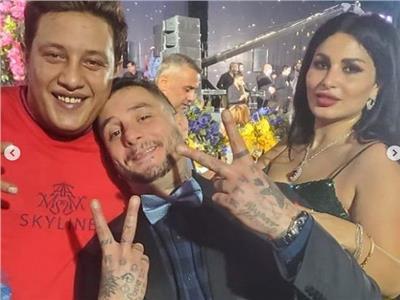 بالصور| «الفيشاوي» يظهر مع بيكا وشاكوش: «هوبا رجعنا ليكوا»
