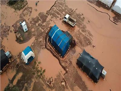 بسبب الأمطار.. مخيمات النازحين في سوريا تتحول لمستنقعات