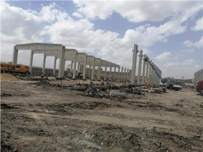 قطاع الأعمال: بدء تركيب الهيكل الخرساني لأكبر مصنع غزل في العالم