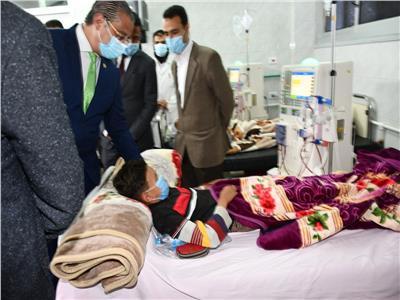 محافظ الفيوم يفتتح أعمال تطوير وتوسعة وحدة الغسيل الكلوي بمستشفى طامية المركزي