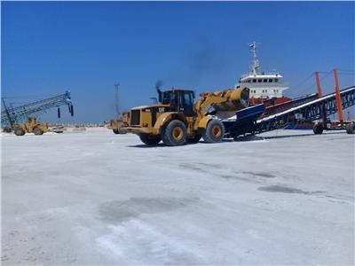 تصدير 8400 طن ملح إلى لبنان عبر ميناء العريش