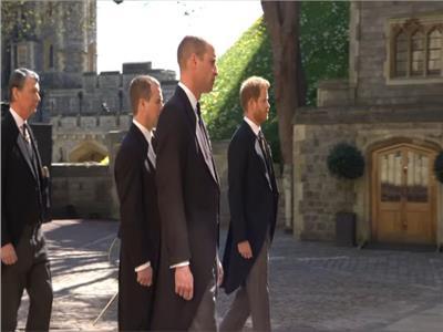 أول ظهور للأمير هاري في جنازة جده الأمير فيليب