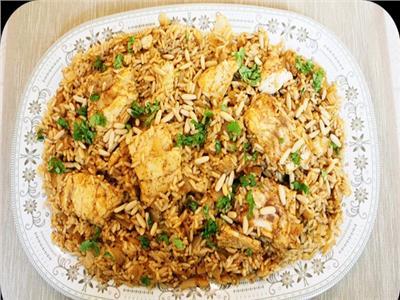 طبخة رمضان   كبسة السمك «الفيليه» بالمكسرات والكزبرة الخضراء