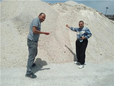 إعدام 200 طن ملح غير صالح للاستهلاك الآدمي بالاسكندرية