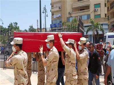 بورسعيد تشيع جثمان البطل محمد مهران من المسجد العباسي